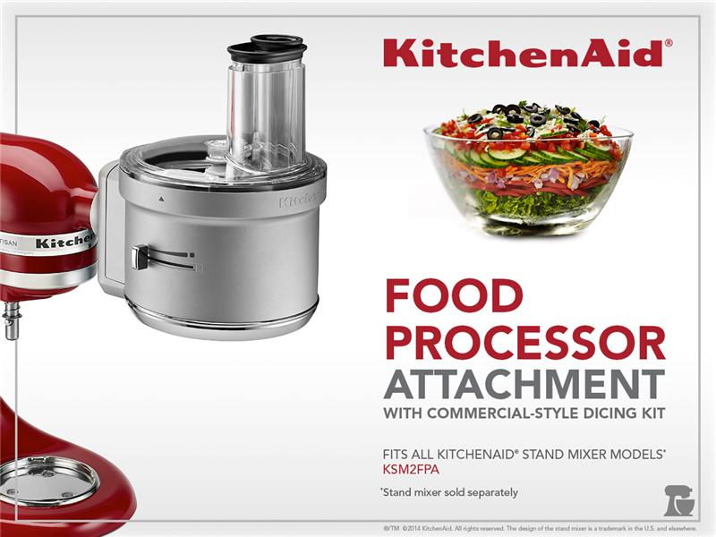KitchenAid® Food Processor Attachment with Commercial Style Dicing on cuisinart food processor attachment, kitchenaid blender, food processor dough attachment, bosch food processor attachment, kitchenaid stand mixer food grinder attachment, blendtec food processor attachment, ninja blender attachment, vitamix food processor attachment, magic bullet food processor attachment, kitchenaid mixer processor attachment, kitchenaid ice cream maker, ninja food processor attachment, food processor with juicer attachment, oster food processor attachment, braun food processor attachment,