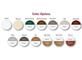 Interior, Exterior Laminates And Painted Colors Available