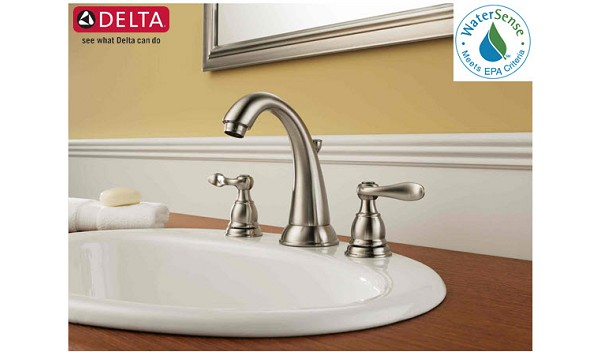 Delta Windemere B3596lf Double Handle Widespread Bathroom: Windemere Two Handle Widespread Lavatory Faucet