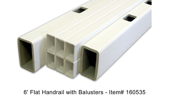 Severe Weather 6 Flat Handrail With Balusters