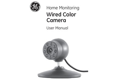 ge security camera color night vision wired instructions ge wired color camera