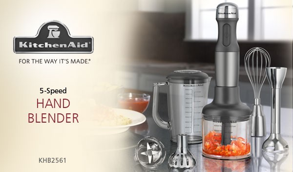 Kitchenaid Khb2561 5 Speed Hand Blender