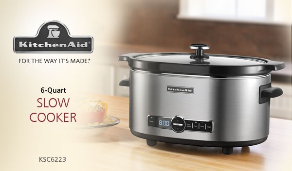 kitchenaid� ksc6223ss 6-quart slow cooker