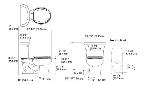 Cavata The Complete Solution 174 Round Front Toilet