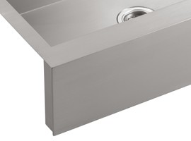 apron front the vault single basin apron front sink features an ...