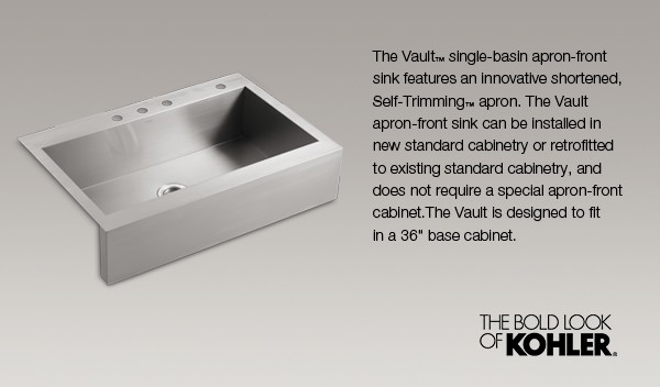 Vault™ Apron-Front Single-Basin Top-Mount Kitchen Sink