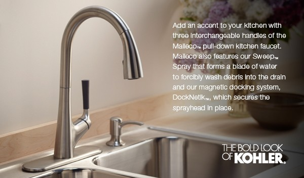 Malleco Pull Down Kitchen Sink Faucet