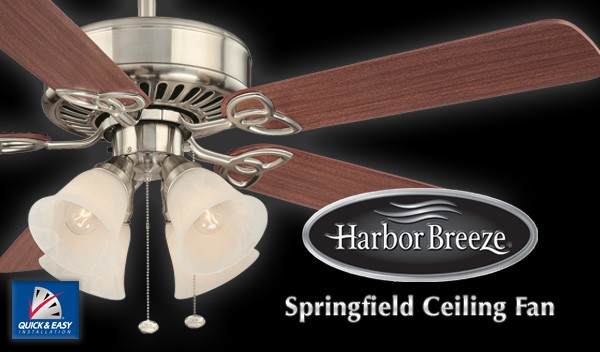 Harbor breeze springfield ceiling fan aloadofball Choice Image