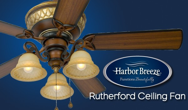Harbor breeze rutherford ceiling fan aloadofball Gallery