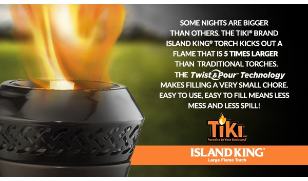 Island King Large Flame Torch