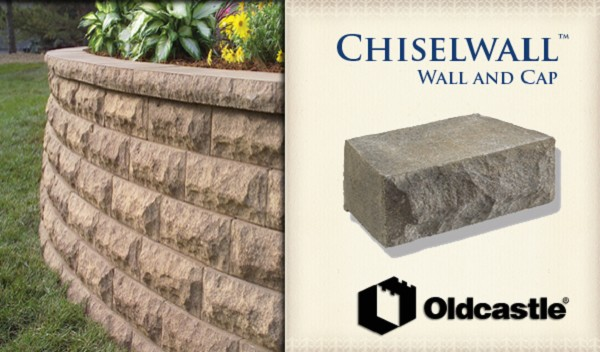 Oldcastle Chiselwall Retaining Wall Cap