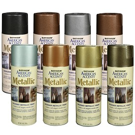 Rustoleum american accents designer metallic spray Metallic spray paint colors