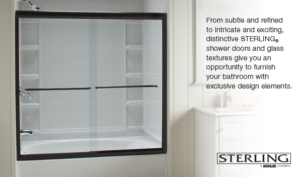 Sterling Finesse™ Frameless By-pass Bath Shower Door