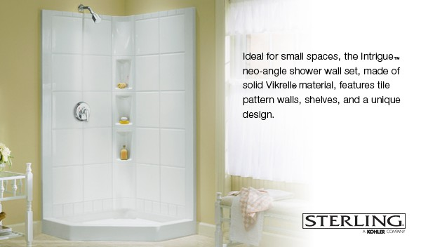 Intrigue Neo Angle Shower Wall Set