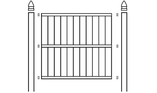 Xpanse Select Vinyl Fence Cameron Panel