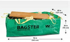 The Bagster Dumpster In A Bag Will Hold Up To 3 Cubic Yards 606 Gallons Of Debris And 300 Lb Is 8 Long By 4 Wide 2 6